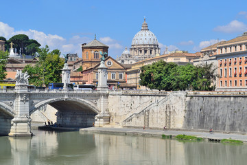 Rome. River Tiber embankment