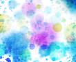 canvas print picture - kreise farben textur