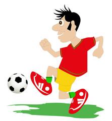 il giocatore di calcio