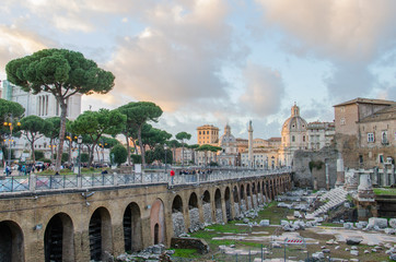 Market of Trajan in Rome, Italy