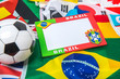 souvenir of Brazil style background picture frame