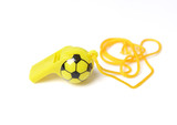 football shape whistle isolated on a white background.