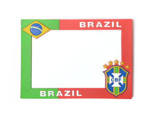 Brazil style background picture frame
