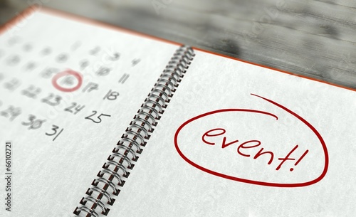Leinwanddruck Bild Event important day, calendar concept