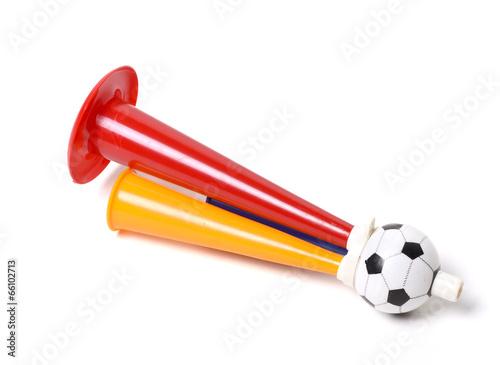 Football soccer triple fan trumpet