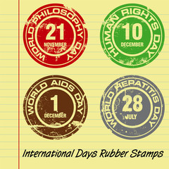 International Days Themed Rubber Stamp Set
