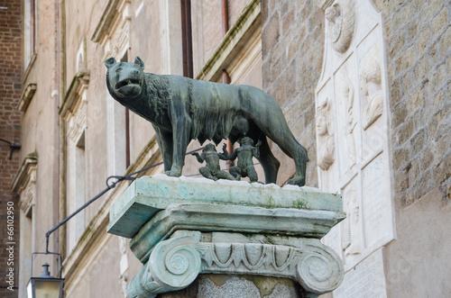 obraz PCV Sculpture of Romulus and Remus
