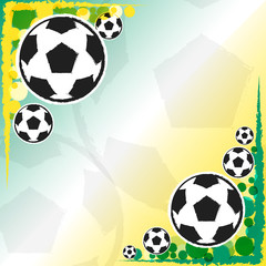 football balls background