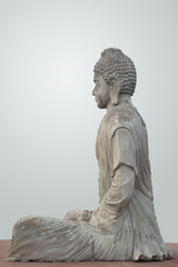 Statue of Buddha at the Garden of Silence in Chandigarh, India