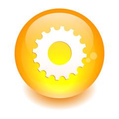 button web settings icon orange