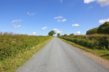 newly surfaced rural road