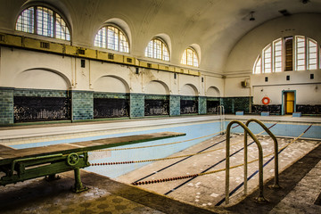 abandoned old pool