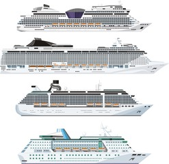 passenger transportation ships set