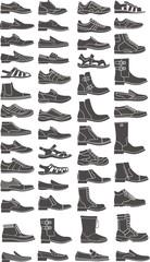 man boots set
