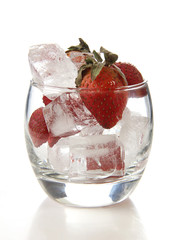Strawberries and ice