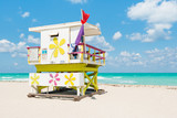 Fototapety Lifeguard tower in South Beach, Miami