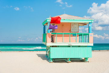 Lifeguard tower in Miami Beach