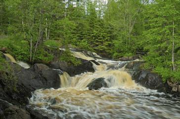 Ruskeala waterfall, river Tohmajoki Karelia