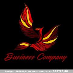 logo, happiness,  success, birds, illustrations, phoenix