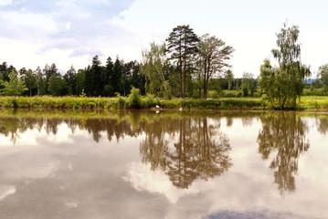 Lake in Upper Palatinate, Germany