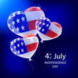 Independence day balloons