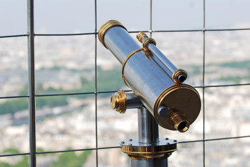 Coin Operated public binocular in Paris