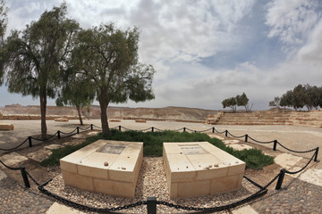 The grave of the founder David Ben-Gurion