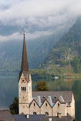 The belfry and Lutheran church on Lake Hallstatt