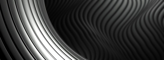 Silver metal abstract architectural wallpaper