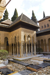 Lions Patio, Alhambra, Granada, Spain