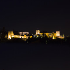 Granada and Alhambra by night.