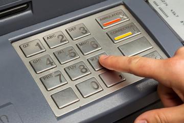 Clavier de machine de retrait d'argent