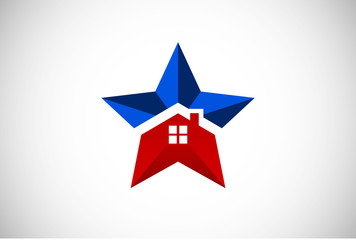 star home house icon and logo vector