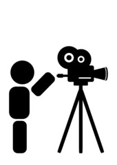 abstract cameraman character