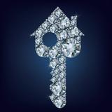 House key  made up a lot of diamonds