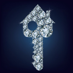 House key  made up a lot of diamonds
