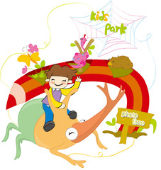 Illustration of Children's Day