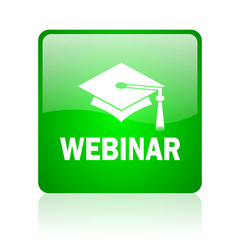 webinar computer icon on white background