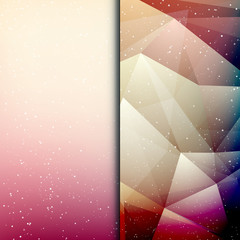 Abstract geometric polygonal shiny background