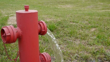 fire hydrant open and low pressure