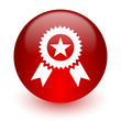 award red computer icon on white background
