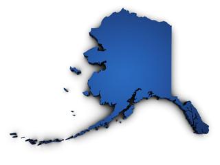 Map Of Alaska 3d Shape