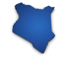 Map Of Kenya 3d Shape