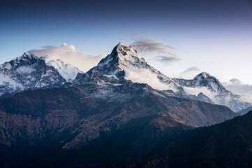 Beautiful view of Annapurna range, Himalayan mountains, Nepal, f