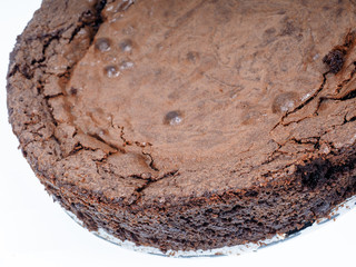Fresh chocolate cake