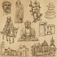 Religious no.4 - Vector pack, hand drawings