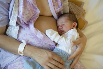 recién nacido en hospital