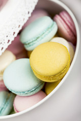 Pastel color macaroons