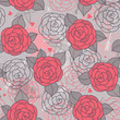 Seamless pattern with roses.