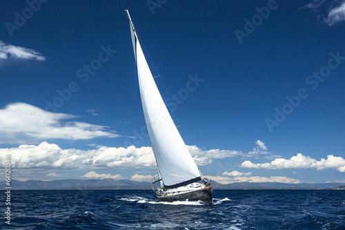 Luxury yachts. Boat in sailing regatta. - 66120340